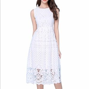 Dresses & Skirts - White Lace Cocktail Dress